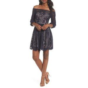 Chelsea28 Floral Lace Off the Shoulder Dress